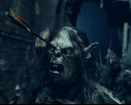 Orc arrow in head