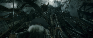 Thrain attacking Gandalf at Dol Guldur