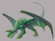 HeroesV Sylvan 07 Green Dragon