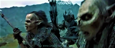 Goblins chasing the fellowship