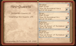 4 of 5 High Elven Kill Quests