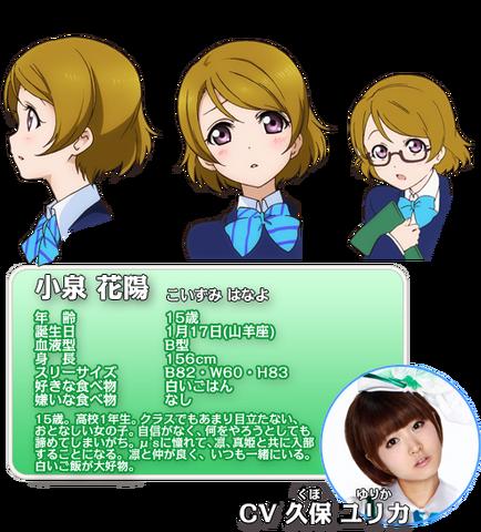 File:Koizumi Hanayo Character Profile.png