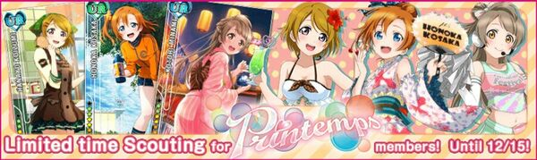 (12-10) Printemps Limited Scouting