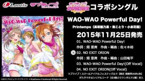 WAO-WAO Powerful day! and NO EXIT ORION PV