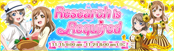 Research is Required Event