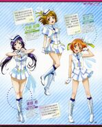 Nozomi Hanayo Rin Wonderful Rush Magazine Scan