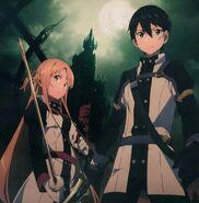 Asuna & Kirito (Sword Art Online Ordinal Scale) Pic (4)