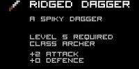 Ridged Dagger