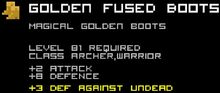 Golden Fused Boots