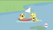 DucklingsPlayingWithBoat