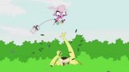 Mink jumps over Lion