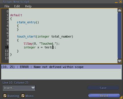 Screenshot compiler error