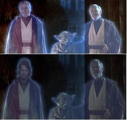 Comparison of digital manipulation of spirit scene