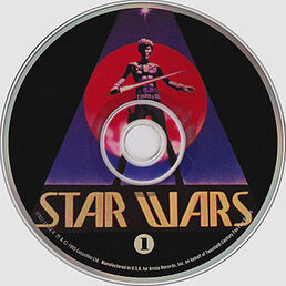 CD cover for disc 1 of the -Star Wars Trilogy; The Original Soundtrack Anthology- CD box-set