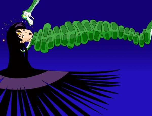 File:Sailor Mars vs snake by MegatronMan.png
