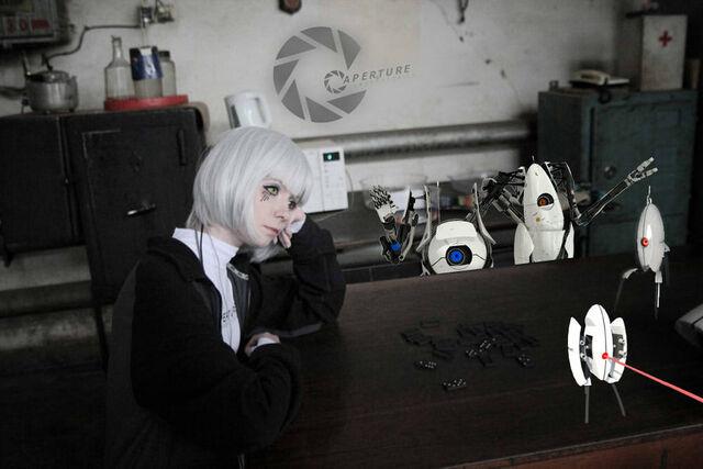 File:GLaDOS cosplay sad.jpg