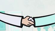 S1 E14 a handshake