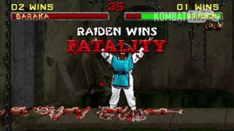 "Mortal Kombat II - Fatalities - Raiden - ""Electrocution"""