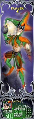 Gauntlet Dark Legacy - Green Jester (Player 4)