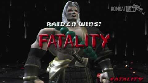 "Mortal Kombat Deception - Fatalities - Raiden - ""Lighting Stream"""