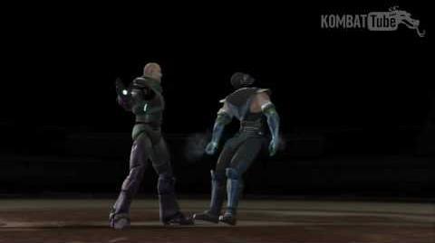"Mortal Kombat vs. DC Universe - Fatalities - Lex Luthor - ""Torso Spin"""