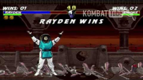 """Mortal Kombat 3 - Fatalities - Rayden - """"Thunder Punch"""""""