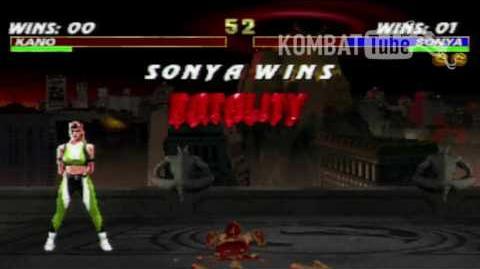 "Mortal Kombat 3 - Fatalities - Sonya Blade - ""Flame Kiss"""