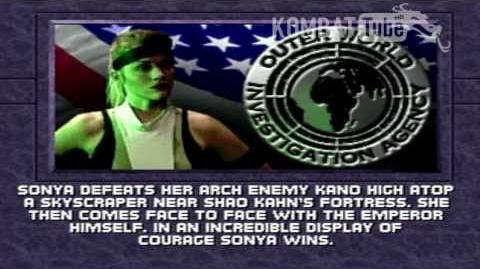 Mortal Kombat 3 + Ultimate Mortal Kombat 3 + Mortal Kombat Trilogy - Endings - Sonya Blade