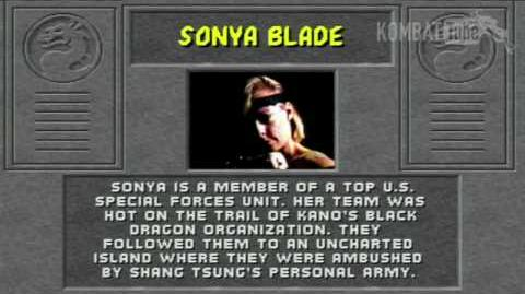Mortal Kombat (1992) - Biographies - Sonya Blade