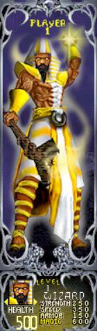 Gauntlet Dark Legacy - Yellow Wizard (Player 1)