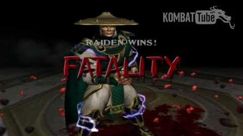"Mortal Kombat Deadly Alliance - Fatalities - Raiden - ""Electrocution"""