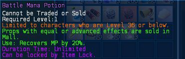Level 07 battle healing mana potions pic2