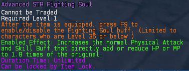 Level 19 advanced STR Element fighting souls pic1
