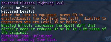 Level 19 advanced STR Element fighting souls pic2