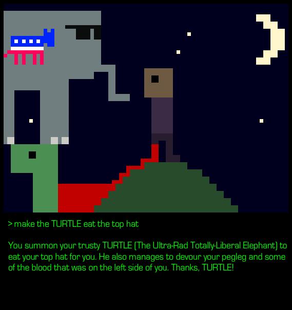 008 - make TURTLE eat hat