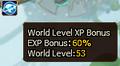 World EXP Level Bonus Server 73.PNG