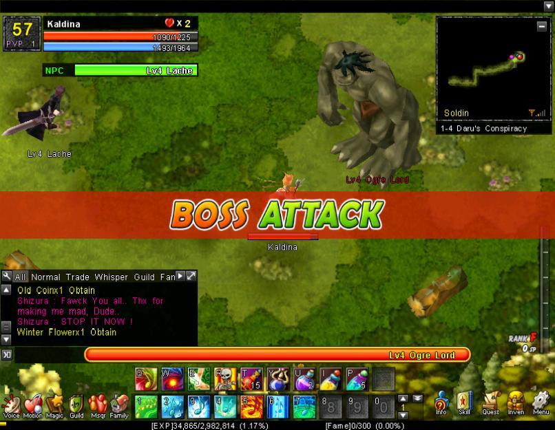 Boss Attack (1-4H)