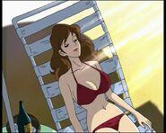 Fujiko in a red bikini