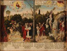 Lucas Cranach d.Ä. - Gesetz und Gnade (Lutherhaus Wittenberg)