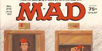 MAD Magazine Issue 216