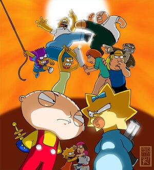 Simpsons vs family guy1