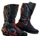Pair of Armored Biker Boots