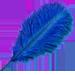 Standard 75x75 collect blue ostrich