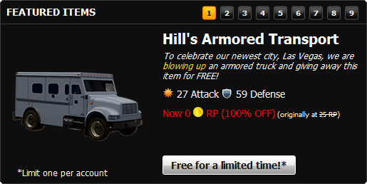 Hill's Armored Transport Marketplace