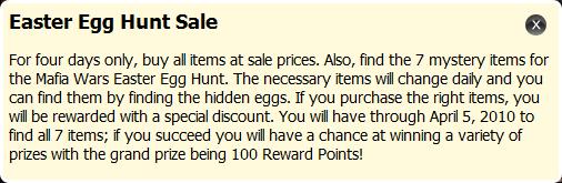 Easter Egg Hunt Sale info