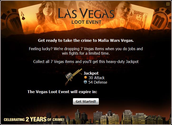 Vegas Loot Popup