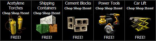 Chop Shop free gift
