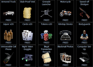 Free gift items