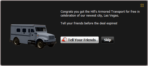 Hill's Armored Transport recieved