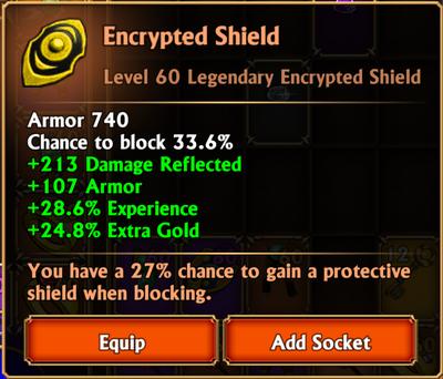Encrypted shield